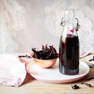 Sirop d'hibiscus sans sucre, douceur acidulée